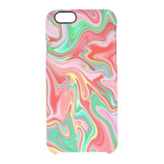 Funda Transparente Para iPhone 6/6s Verano Abstract2 - caso claro del iphone