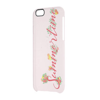 Funda Transparente Para iPhone 6/6s Verano floral - del rosa caso del iPhone