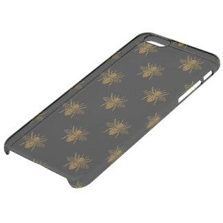 Funda Transparente Para iPhone 6 Plus Abejas metálicas del efecto metalizado del oro en