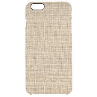 Funda Transparente Para iPhone 6 Plus Arpillera rústica del vintage del país