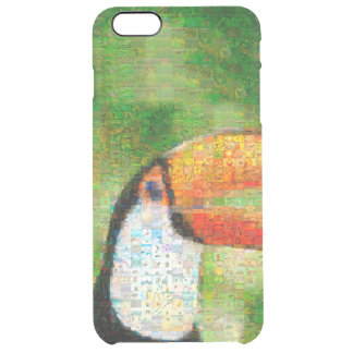 Funda Transparente Para iPhone 6 Plus Arte del collage-toucan de Toucan - arte del