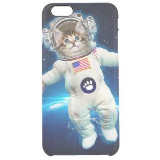 Funda Transparente Para iPhone 6 Plus Astronauta del gato - gato del espacio - amante