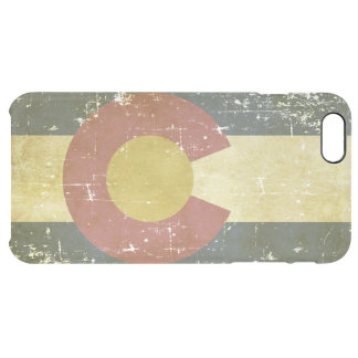 Funda Transparente Para iPhone 6 Plus Bandera patriótica de papel gastada del estado de