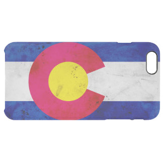 Funda Transparente Para iPhone 6 Plus Bandera patriótica del estado de Colorado del
