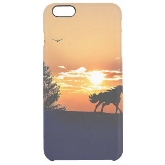Funda Transparente Para iPhone 6 Plus caballo corriente - caballo de la puesta del sol -