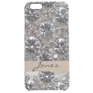 Funda Transparente Para iPhone 6 Plus Diamantes blancos de los diamantes artificiales