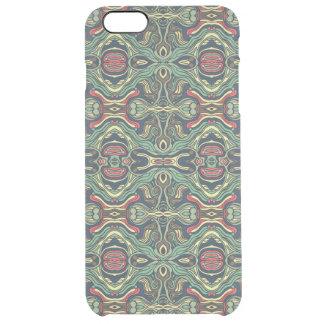 Funda Transparente Para iPhone 6 Plus Diseño rizado dibujado mano colorida abstracta del