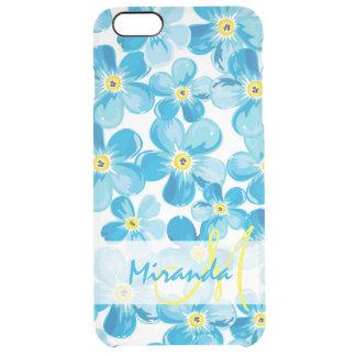 Funda Transparente Para iPhone 6 Plus El azul vibrante de la acuarela me olvida no
