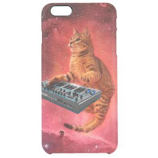 Funda Transparente Para iPhone 6 Plus el gato suena - gato - los gatos divertidos -
