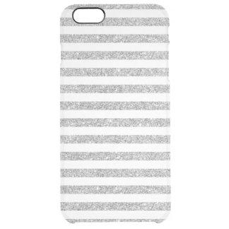 Funda Transparente Para iPhone 6 Plus Falso modelo de plata elegante de la raya del