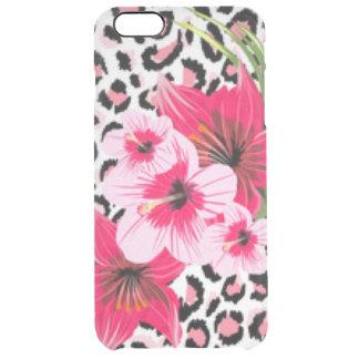 Funda Transparente Para iPhone 6 Plus Flores rosadas y diseño de la impresión del modelo
