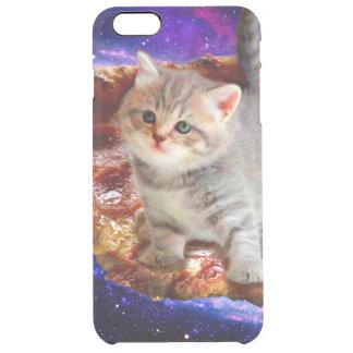 Funda Transparente Para iPhone 6 Plus gato de la pizza - gatos lindos - gatito - gatitos