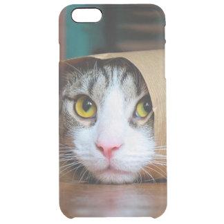 Funda Transparente Para iPhone 6 Plus Gato de papel - gatos divertidos - meme del gato -
