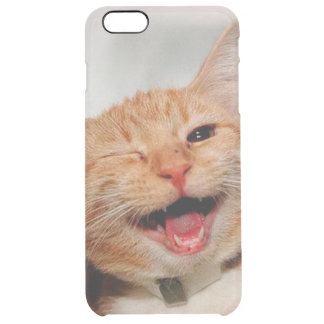 Funda Transparente Para iPhone 6 Plus Gato que guiña - gato anaranjado - los gatos