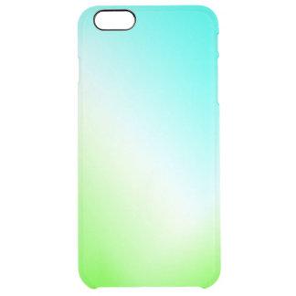 Funda Transparente Para iPhone 6 Plus ¡Hielo azul y verde claro!