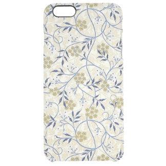 Funda Transparente Para iPhone 6 Plus iPhone 6/6S del jazmín azul más el caso claro
