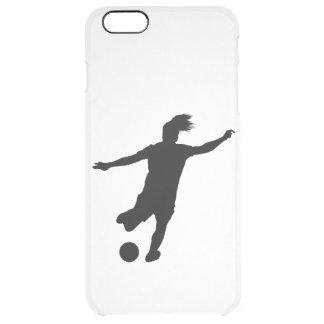 Funda Transparente Para iPhone 6 Plus Jugador de fútbol de la mujer