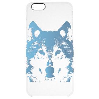 Funda Transparente Para iPhone 6 Plus Lobo de los azules claros del ilustracion