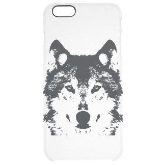 Funda Transparente Para iPhone 6 Plus Lobo negro del ilustracion