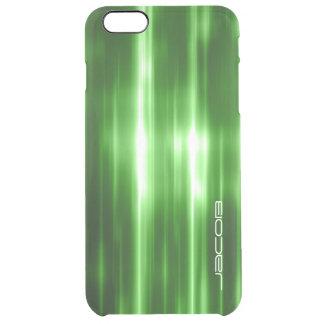 Funda Transparente Para iPhone 6 Plus luces brillantes abstractas verdes personalizadas