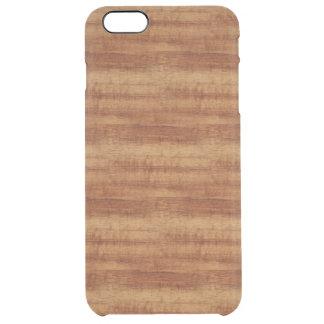 Funda Transparente Para iPhone 6 Plus Mirada de madera del grano del acacia rizado de
