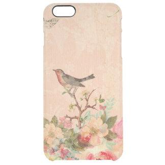 Funda Transparente Para iPhone 6 Plus Moda lamentable, pájaro, mariposa, cordón, floral,