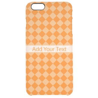 Funda Transparente Para iPhone 6 Plus Modelo anaranjado del diamante de la combinación