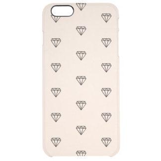 Funda Transparente Para iPhone 6 Plus Modelo elegante lindo del rosa del diamante