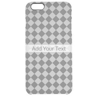 Funda Transparente Para iPhone 6 Plus Modelo gris del diamante de la combinación de