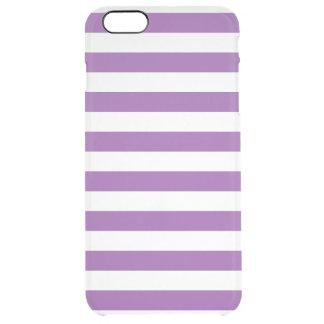 Funda Transparente Para iPhone 6 Plus Modelo púrpura y blanco de la raya
