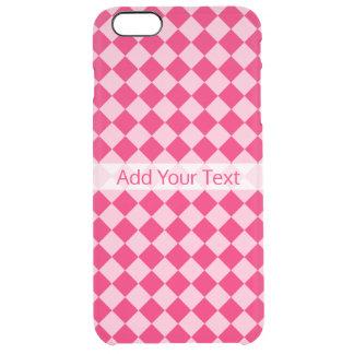 Funda Transparente Para iPhone 6 Plus Modelo rosado del diamante de la combinación de