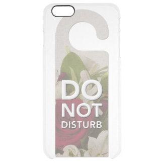 Funda Transparente Para iPhone 6 Plus No perturbe los rosas y decir del ramo de Lilly
