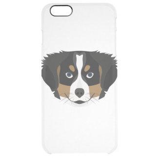 Funda Transparente Para iPhone 6 Plus Perro de montaña de Bernese del ilustracion