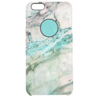 Funda Transparente Para iPhone 6 Plus Textura de mármol gris y verde