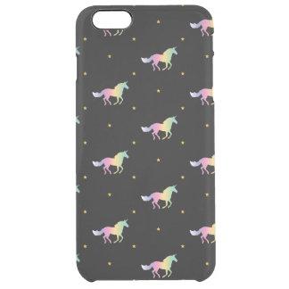 Funda Transparente Para iPhone 6 Plus Unicornios del arco iris y modelo de estrellas del