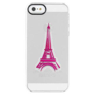 Funda Transparente Para iPhone SE/5/5s 3d torre Eiffel, clipart de Francia