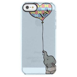 Funda Transparente Para iPhone SE/5/5s Amor - pedazo del rompecabezas - elefante - caja