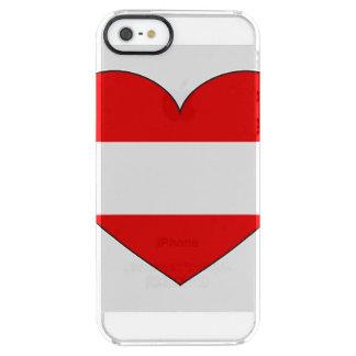 Funda Transparente Para iPhone SE/5/5s Bandera de Austria simple