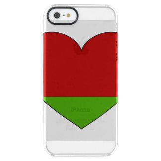 Funda Transparente Para iPhone SE/5/5s Bandera de Bielorrusia simple
