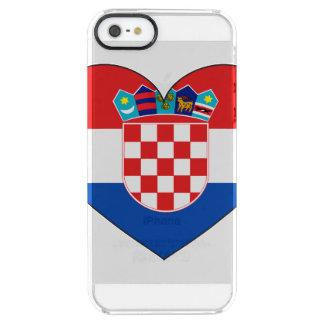 Funda Transparente Para iPhone SE/5/5s Bandera de Croacia simple