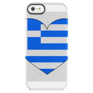 Funda Transparente Para iPhone SE/5/5s Bandera de Grecia simple