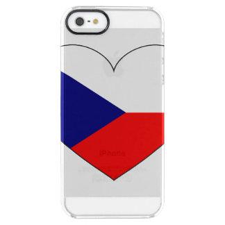 Funda Transparente Para iPhone SE/5/5s Bandera de la República Checa simple