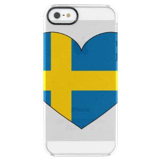 Funda Transparente Para iPhone SE/5/5s Bandera de Suecia simple