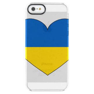 Funda Transparente Para iPhone SE/5/5s Bandera de Ucrania simple