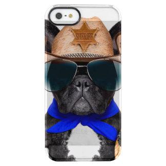 Funda Transparente Para iPhone SE/5/5s barro amasado del vaquero - vaquero del perro