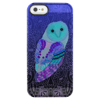 Funda Transparente Para iPhone SE/5/5s Búho de Swirly