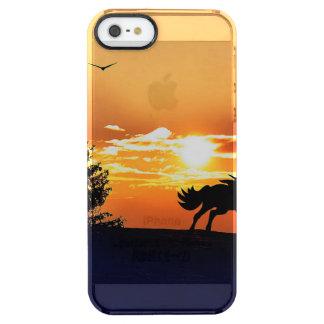 Funda Transparente Para iPhone SE/5/5s caballo corriente - caballo de la puesta del sol -