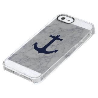 Funda Transparente Para iPhone SE/5/5s Caja del teléfono del mármol del ancla de la
