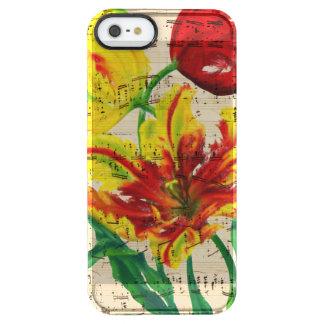 Funda Transparente Para iPhone SE/5/5s canciones del tulipán