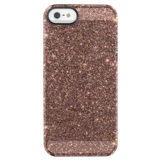 Funda Transparente Para iPhone SE/5/5s Chispas de bronce del brillo